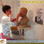 Nghệ nhân đắp tượng đúc tượng chân dung, tượng bán thân, tượng thờ, tượng kỷ niệm