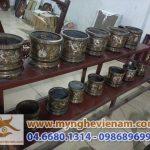 Các mẫu bát hương đồng thờ cúng