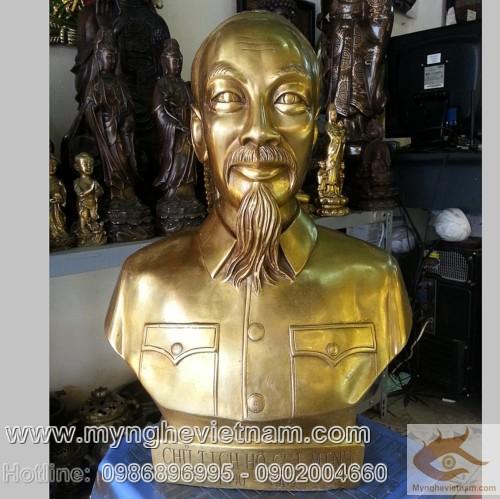 Cung cap tuong bac ho, tuong dong ho chi minh,Tượng Bác Hồ cao 30cm, tượng đồng Bác Hồ, tượng chân dung, tượng bán thân của Bác, tuong bang dong nguyen chat