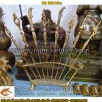 Bộ bát bửu 8 binh khí bằng đồng, đồ đồng thờ cúng cao cấp