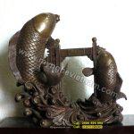 Tượng đồng cá chép vượt vũ môn, cá chép hóa rồng