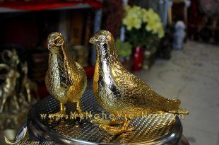 tượng chim bồ câu quà tặng đồng