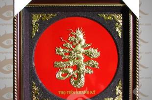 tranh chữ thọ rồng