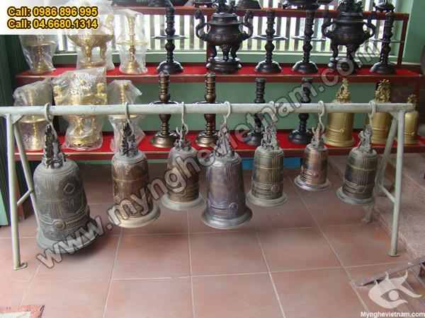 Chuông đồng, Chuông dùng trong đền chùa, nhà thờ, điện thờ