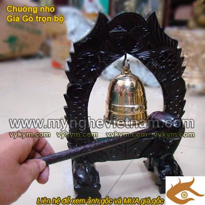 chuông đồng treo giá bày bàn thờ gia đình