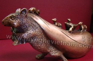 tượng chuột đồng phong thủy 12 con giáp