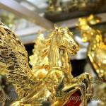 Tượng ngựa đồng có cánh mạ vàng 9999