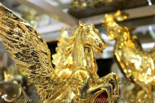 tượng ngựa đồng có cánh mạ vàng, tượng ngựa bay bằng đồng 1