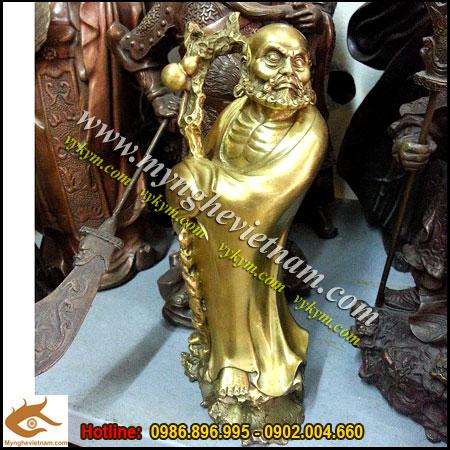 Tượng Đạt ma sư tổ cao 25cm,tượng thờ bằng đồng, đức đạt lai lạt ma, tượng thờ cúng cao cấp