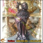 Tượng đạt ma sư tổ cao 25cm đồng giả cổ