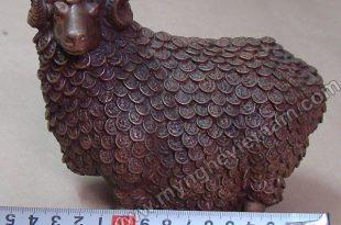 tượng dê đồng phong thủy lông tiền