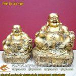 Tượng Phật Di Lạc ngồi cầm hồ lô bằng đồng
