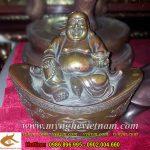 Tượng Phật Di Lặc ngồi kim bảo ngồi tiền cao 15cm