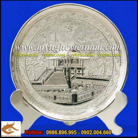 Do dong viet nam, lang nghe dong xam thai binh, Đĩa đồng mạ bạc, đĩa chạm đồng, đĩa chùa một cột, đĩa đồng lưu niệm,quà tặng đối tác,quà tặng người nước ngoài,quà tặng doanh nghiệp,quà tặng độc đáo