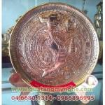 Đĩa đồng mặt trống bản đồ Việt Nam, đĩa quà tặng văn hóa