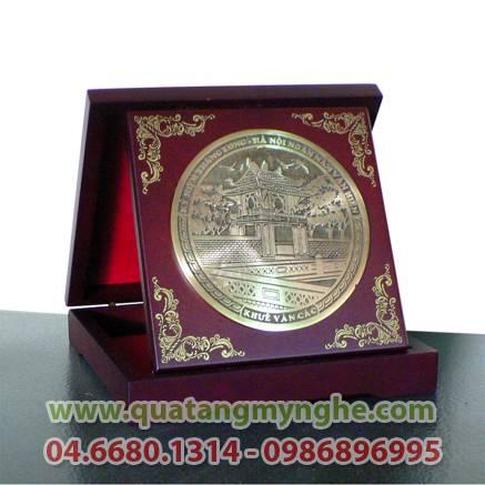 đĩa đồng, đĩa quà tặng, đĩa 3 miền, đĩa văn hóa việt nam, quà tặng, quà lưu niệm