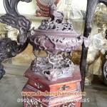 Đỉnh thờ cúng nho sóc, đỉnh quả đào bằng đồng cao 43cm
