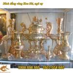 Đỉnh đồng hoa Sòi vàng bóng cao 50cm