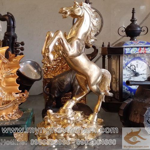 Tượng Ngựa trang trí, bằng đồng, ngựa đẹp, mã đáo thành công, Riding Horses Bronze Sculpture