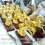 Ngựa đồng mạ vàng, vật phẩm phong thủy, mã đáo thành công