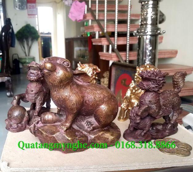 tượng voi, tượng sư tử, kỳ lân, tỳ hưu, thiềm thừ, cóc ba chân, ý nghĩa phong thủy, vật phẩm phong thủy