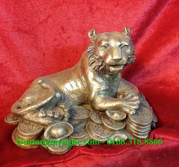 Tượng hổ đồng phong thủy, tượng hổ ngồi tiền, con giáp phong thủy, vật phẩm phong thủy dành cho người hợp tuổi Dần