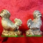 Tượng gà phong thủy bằng đồng, tượng gà mái gà trống