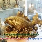 Cá chép nhả ngọc, tượng đồng cá chép phong thủy