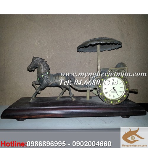 Đồng hồ xe ngựa kéo, đồng hồ bằng đồng, đồng hồ cơ, đồng hồ quà tặng lưu niệm, đồng hồ omega bằng đồng