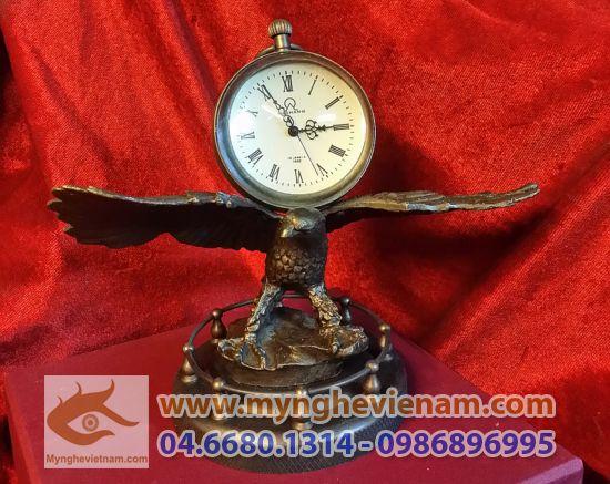 Đồng hồ con đại bàng, đồng hồ bằng đồng, đồng hồ cơ, đồng hồ quà tặng lưu niệm, đồng hồ omega bằng đồng