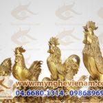Tượng gà 12 Con giáp phong thủy bằng đồng