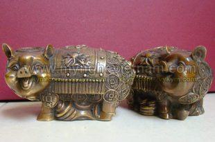 tượng heo đồng phong thủy , tượng lợn đồng 12 con giáp