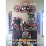 Bộ đại tự khung đồng trang trí bàn thờ gia đình, nhà chùa đình thờ