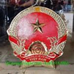Làm quốc huy việt nam và huy hiệu công an bằng đồng theo tiêu chuẩn