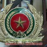 Chế tác quốc huy, huy hiệu công an, huy hiệu các ngành treo tòa nhà