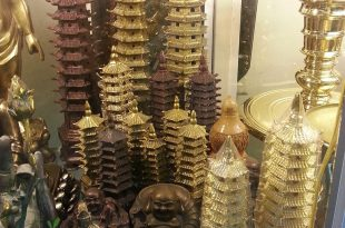 tháp văn xương bằng đồng phong thủy