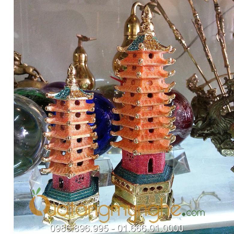 tháp văn xương phong thủy bằng đồng mạ vàng