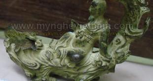 tượng lý bạch ngồi gốc cây gạt tàn thuốc bằng đồng