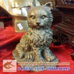 tượng mèo đồng 12 con giáp, tượng mèo phong thủy