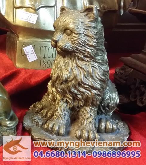tượng mèo đồng phong thủy
