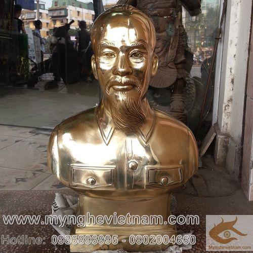 Noi ban tuong dong bac ho, Tượng Bác Hồ cao 42cm, tượng đồng Bác Hồ, tượng chân dung, tượng bán thân của Bác, gia ca tot nhat