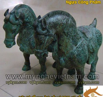 tượng ngựa đồng thờ cúng, ngựa cống phẩm giả cổ
