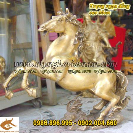 Ngựa phi thiên cao 40cm, ngựa phong thủy đồng0
