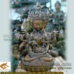 Tượng thần thắng Tây tạng cao 50cm, tượng ma lợi chi thiên