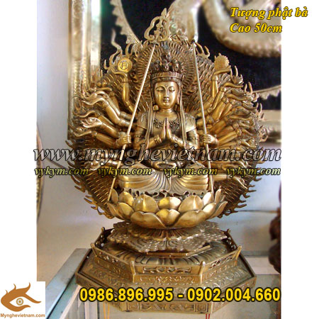 Phật bà nghìn mắt nghìn tay, Tượng đồng phật bà nghìn mắt nghìn tay, Phật Bà thiên thủ thiên nhãn, Phật bà ngồi tọa đài sen, thiền định