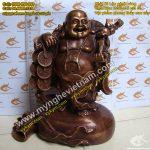 Tượng Phật Di Lạc gánh tiền vàng cao 25cm