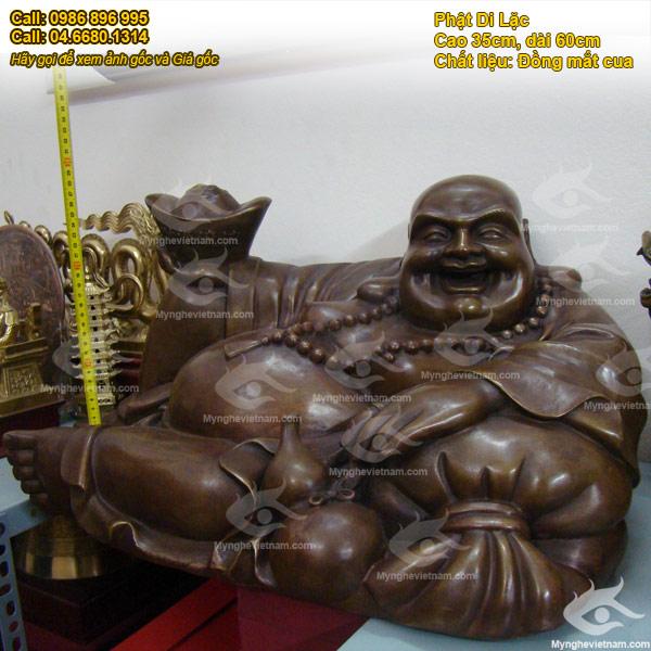 tượng di lặc ngồi tiền cao 30 dài 55cm