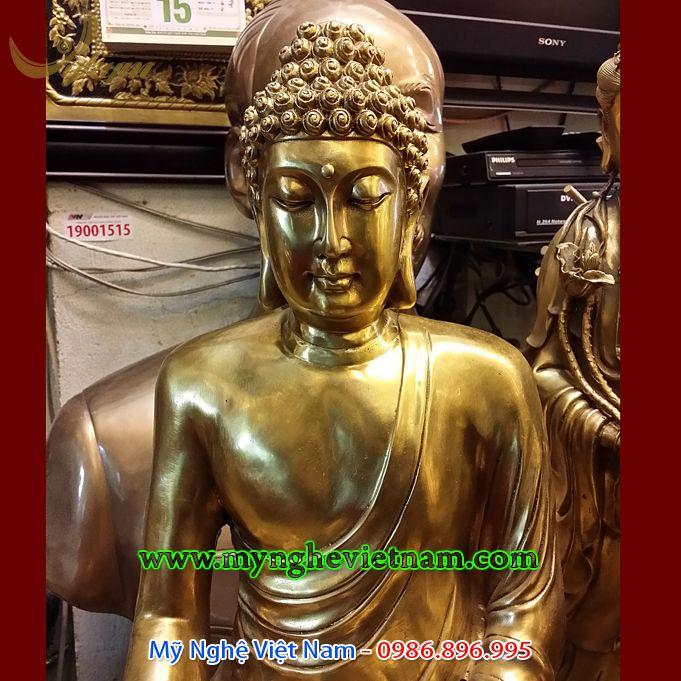 Tượng Phật thích ca đúc đồng cao 60cm0