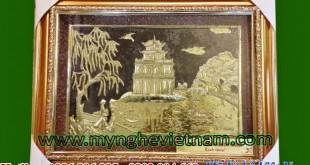 tranh đồng tháp rùa hồ gươm
