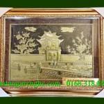 Tranh Khuê Văn Các Hà Nội 60cmx80cm, tranh đồng quà tặng văn hóa